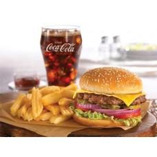 Big hamburger + French fries + Drink