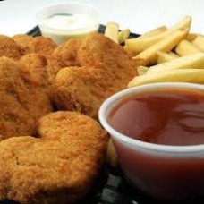 Chicken Nuggets and French fries (8 und.)